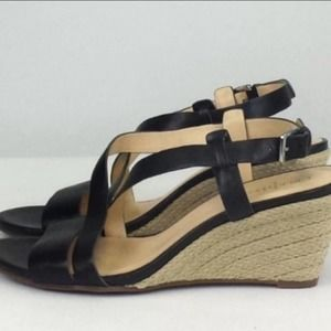 Cole Haan leather strappy wedges
